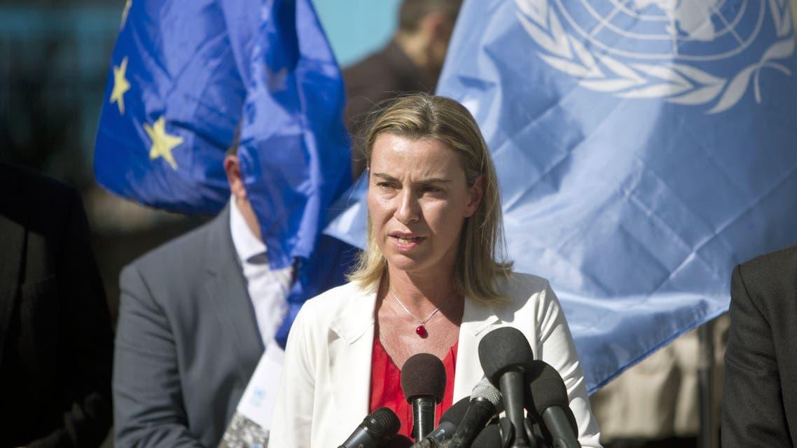 Mogherini in Gaza AFP