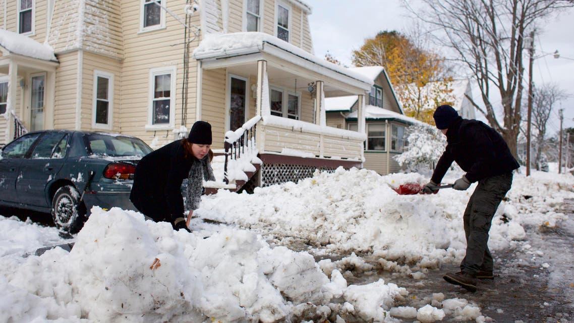 البرد اميركا امريكا طقس نفط نفط اميركا