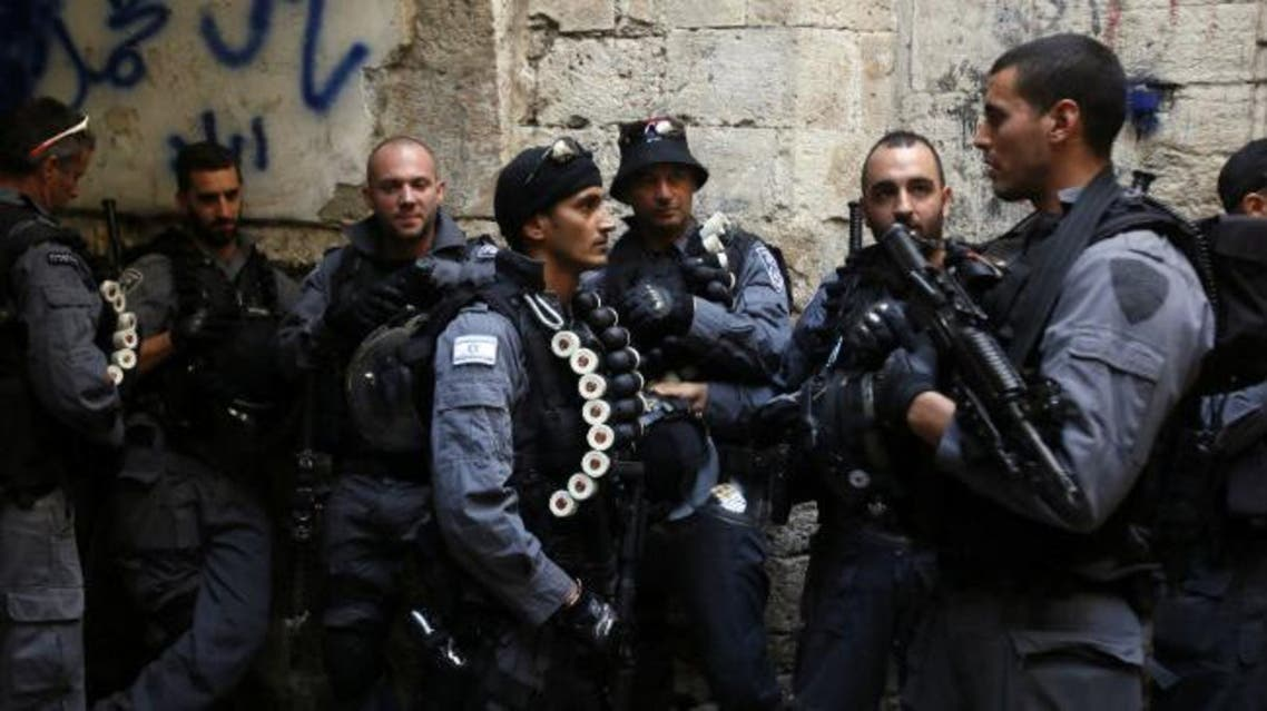 Israeli anti-riot policemen stand guard in Jerusalem's Old City (File photo: AFP) police israel