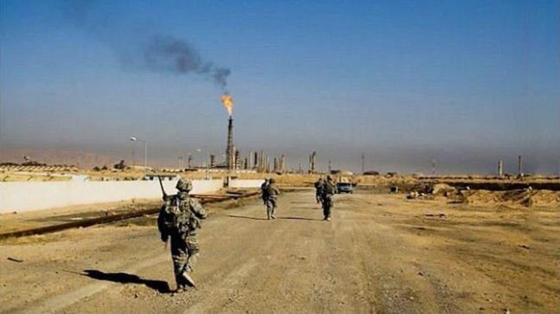الجيش العراقي في مصفى بيجي