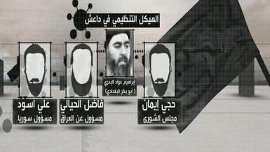 """هيكل """"داعش"""" التنظيمي.. وتوزيع المهام بين قادته"""