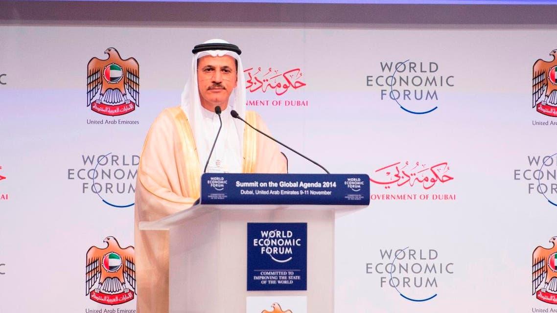 UAE Economy Minister Sultan Al Mansoori WEF 2014