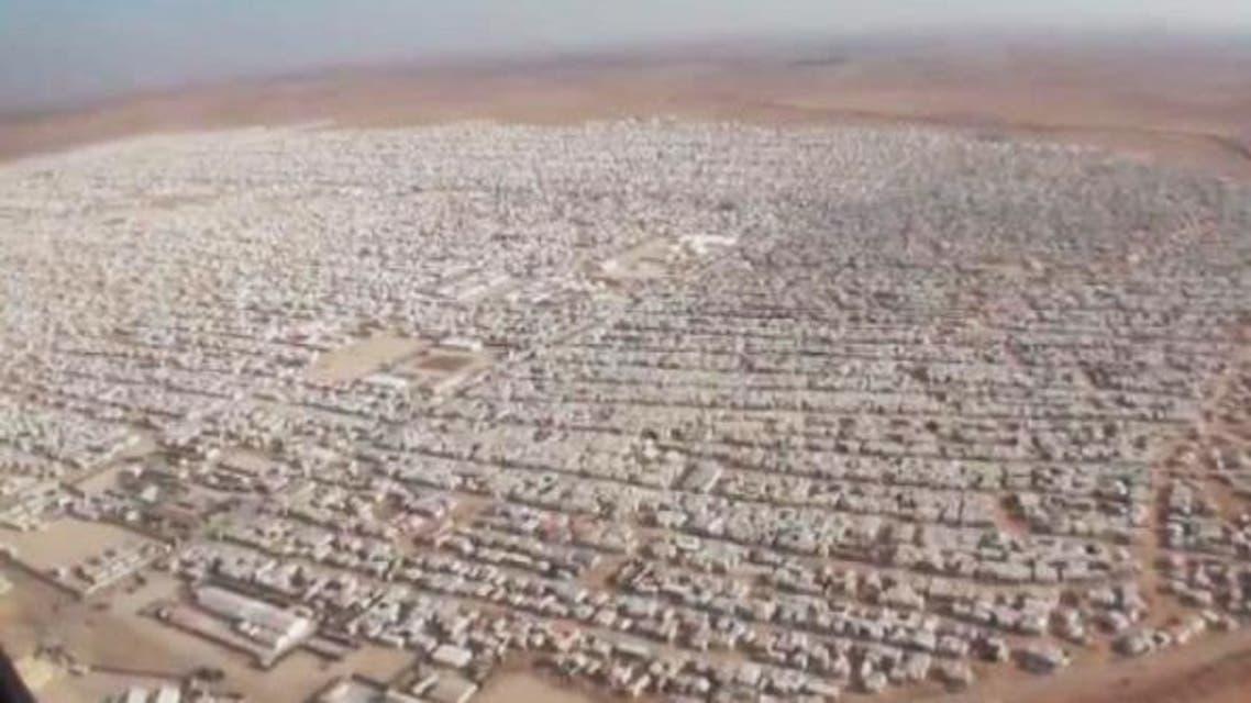 مخيم الزعتري من الجو مريخ