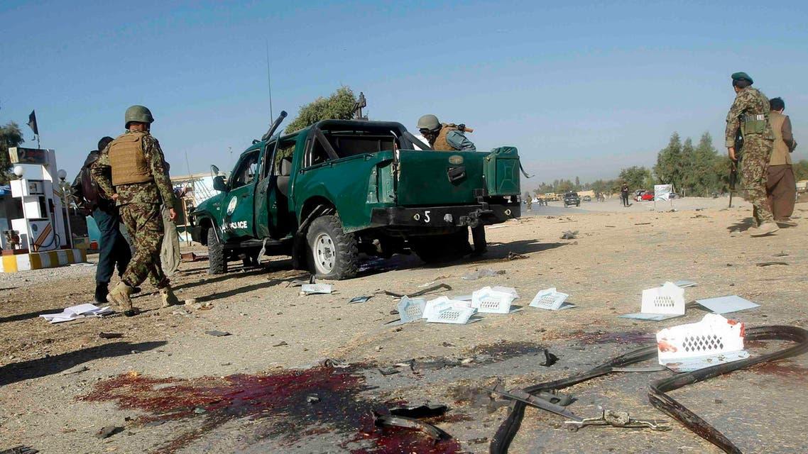 تفجير كابول انفجار أفغانستان  إصابة شرطة أفغانية