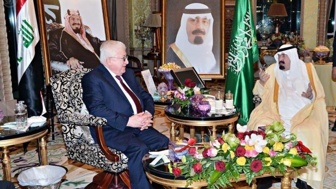 saudi king and iraqi president (SPA)