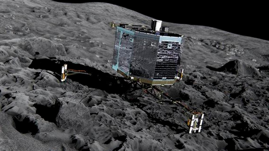 An artist's rendition of the Philae on the comet. (Photo courtesy: esa.int)