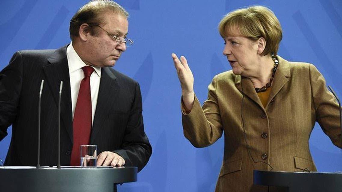 Angela Merkel and Nawaz Sharif