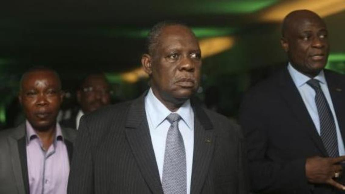 Confederation of African Football (CAF) President Issa Hayatou (C) arrives for the 2013 CAF Awards in Lagos January 9, 2014.