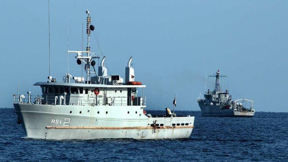سفينة حربية تتبع البحرية المصرية