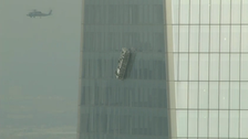 Dangling workers rescued from World Trade Center