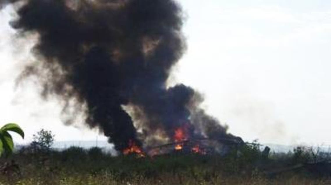 Azerbaijan said its forces shot down the Russian-made Mi-24 helicopter gunship after it tried to attack its positions. (Photo courtesy: Trend.az)