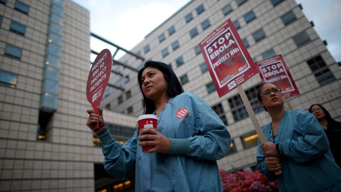ممرضات يضربون عن ايبولا