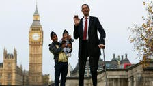 The world's tallest and shortest men meet for Records Day