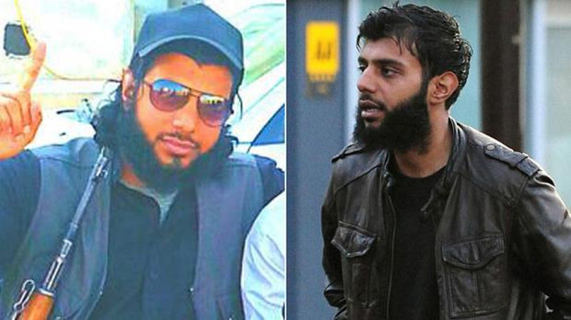 The picture of Kabir Ahmed tweeted after his death was announced, left, and the British man arriving at Derby Crown Court in 2012 Photo: PA