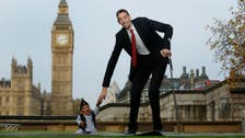 World's tallest and shortest men meet on Records Day