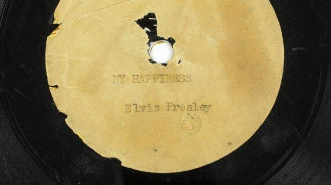 أول أسطوانة سجلها الفيس بريسلي