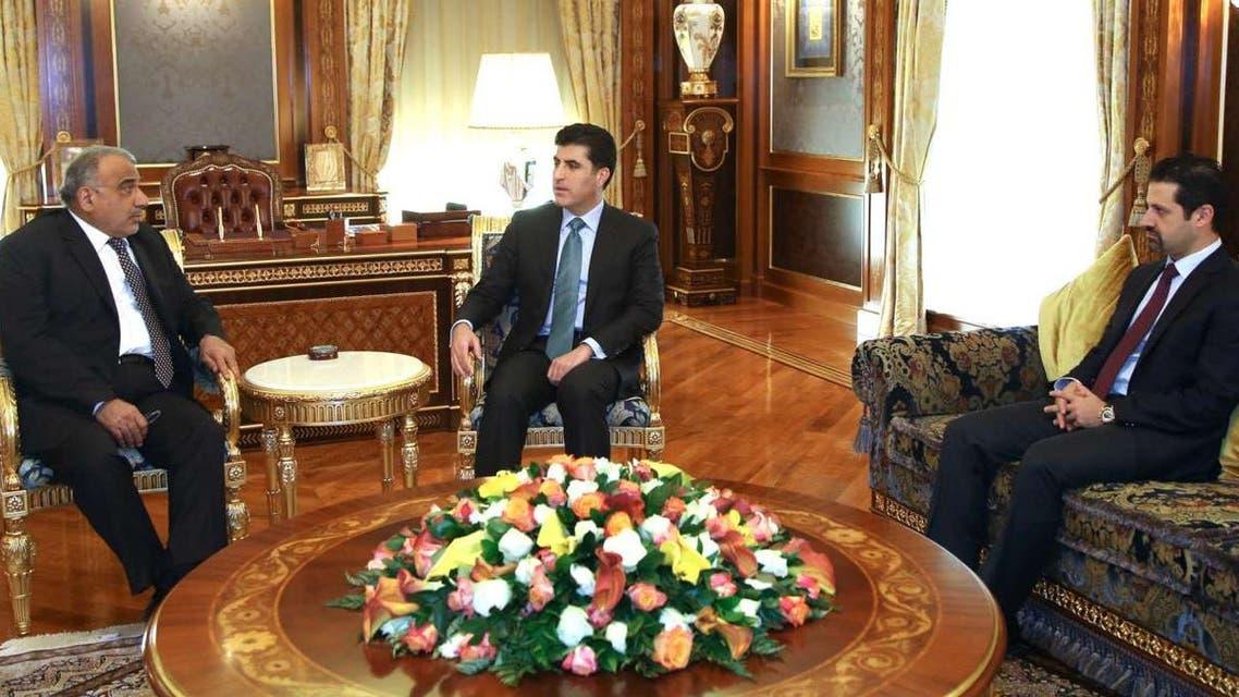عادل عبد المهدي ورئيس وزراء حكومة كردستان العراق