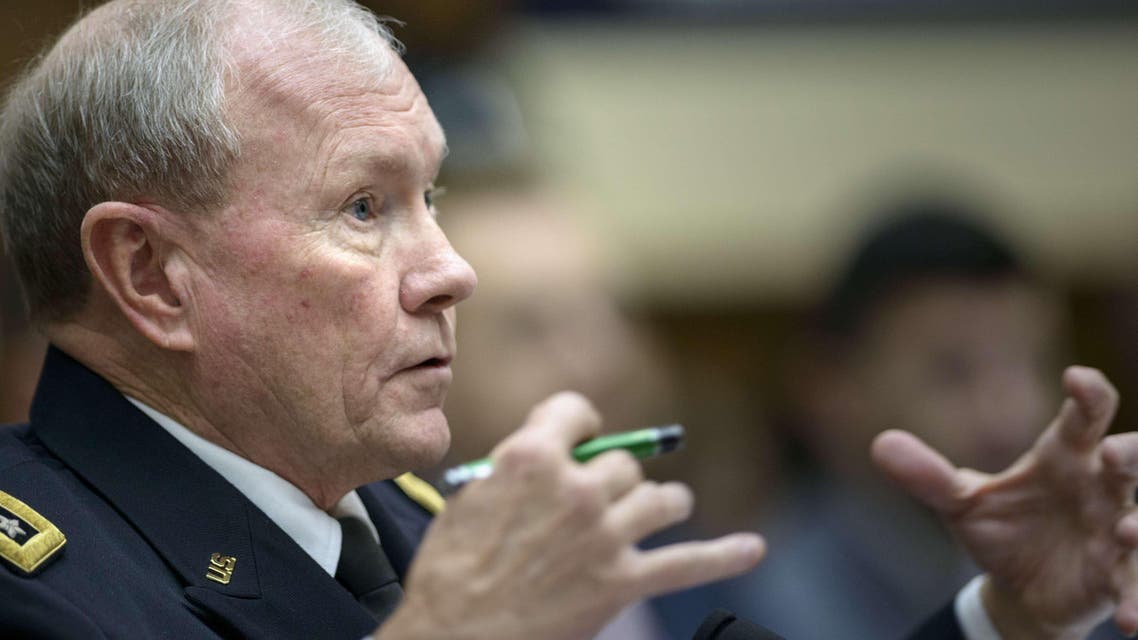 Chairman of the Joint Chiefs of Staff Gen. Martin Dempsey arrived in an unannounced visit to Iraq on Saturday. (File photo: AFP)