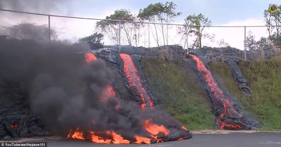 حمم بركانية في هاواي