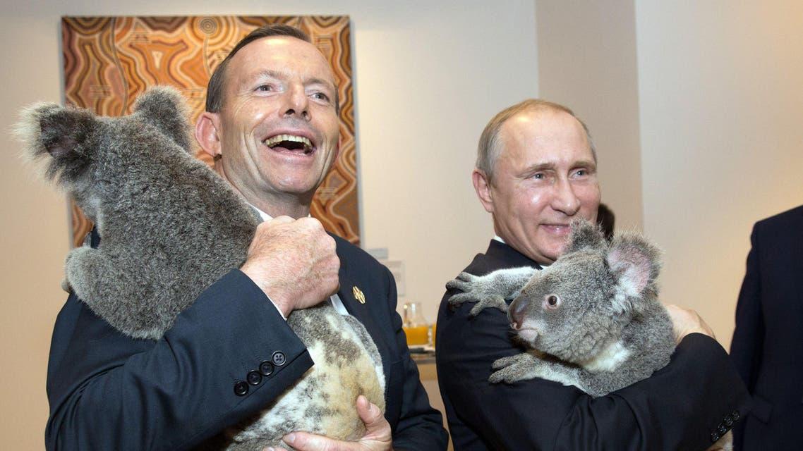 Putin Abbot Australia AFP