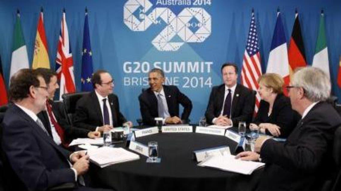 اجتماع لزعماء بلدان اعضاء في مجموعة العشرين