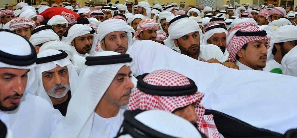 تشييع جثمان محمد خلف المزروعي