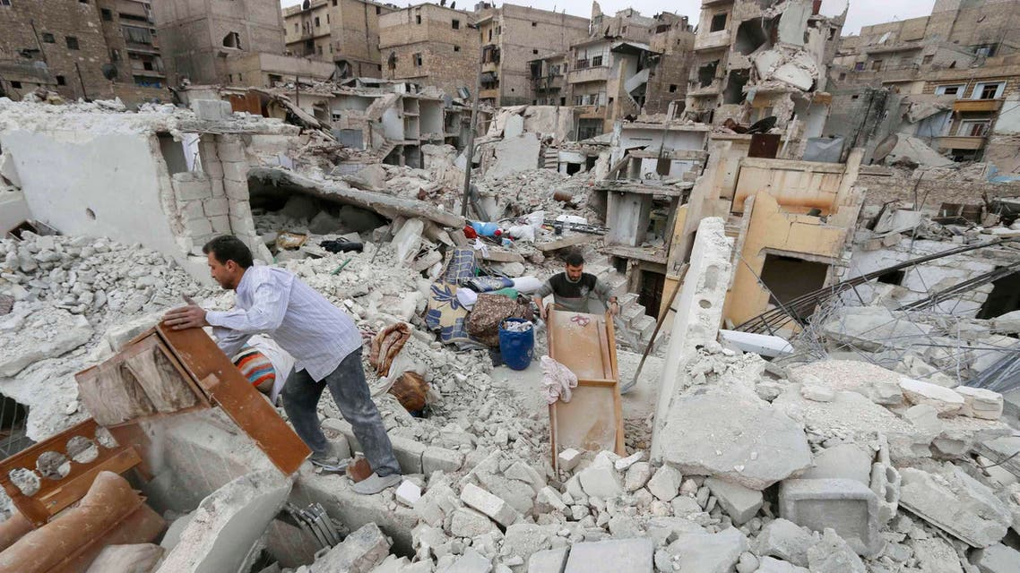 تفجير دمار قصف في حلب على حلب