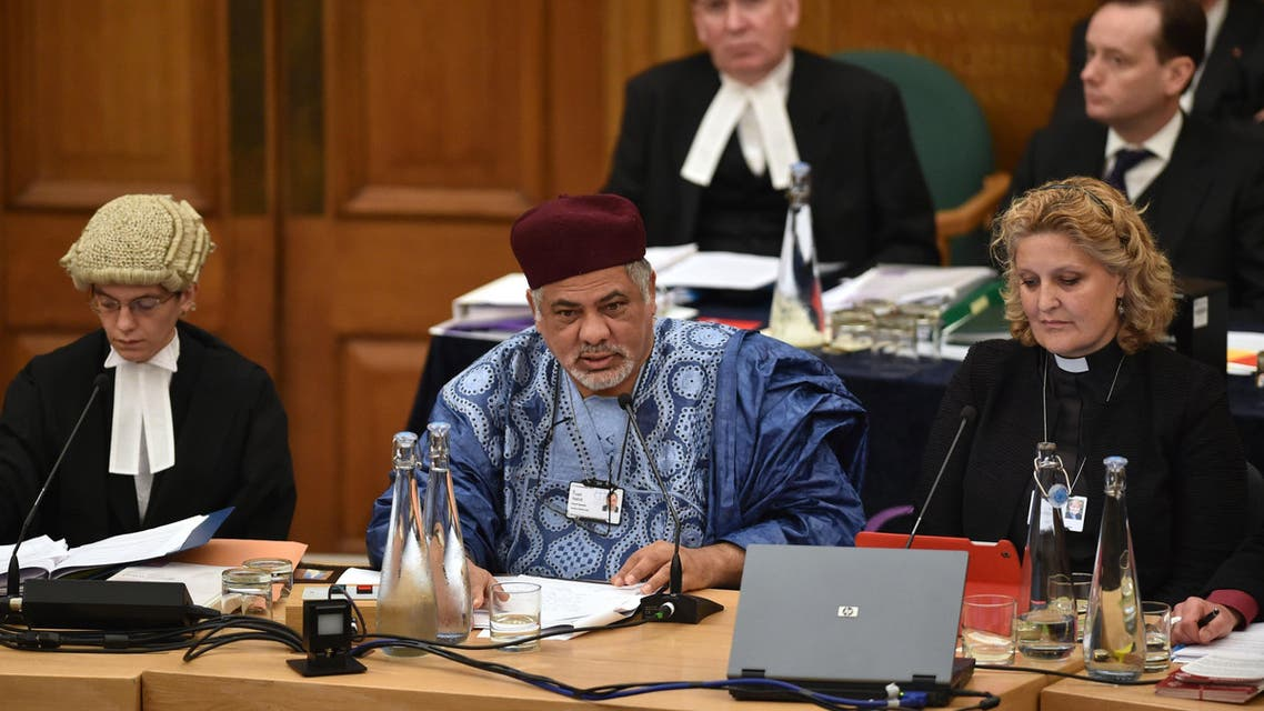 Fuad Nahdi (Front Row C) addresses members of the Church of England's Synod in central London, on November 18, 2014. AFP