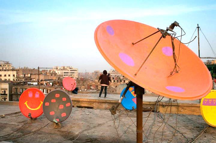 Colores dishes on top of one of Cairo's iconic structures, the Kodak building. (Photo coutes: Facebook)