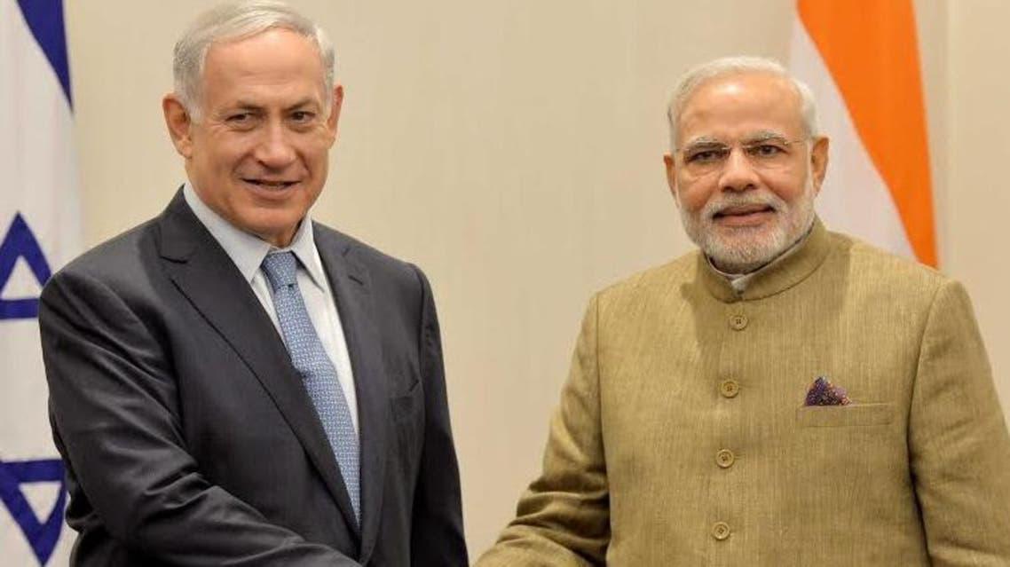 Modi Netanyahu Twitter Israel India