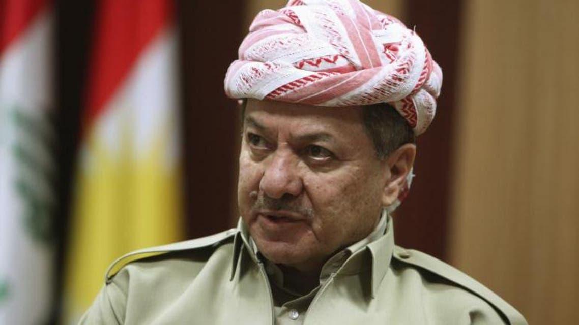 Kurdish Regional Government President Masoud Barzani speaks during an interview with Reuters in Arbil, in Iraq's Kurdistan region, May 12, 2014.   reuters/Azad Lashkari