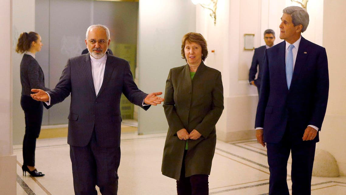 اجتماع جون كيري مع محمد جواد ظريف وكاثرين آشتون حول النووي الإيراني في فيينا