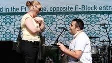 F1 romance? Fan proposes to girlfriend live at Abu Dhabi Grand Prix