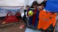 Kurdish refugee children receive FC Barcelona kit