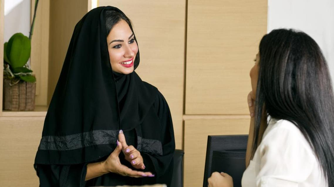 saudi woman hotel shutterstock
