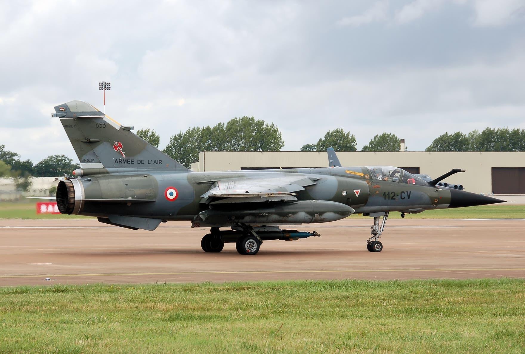 طائرة ميراج فرنسية تابعة لسلاح الجو الفرنسي