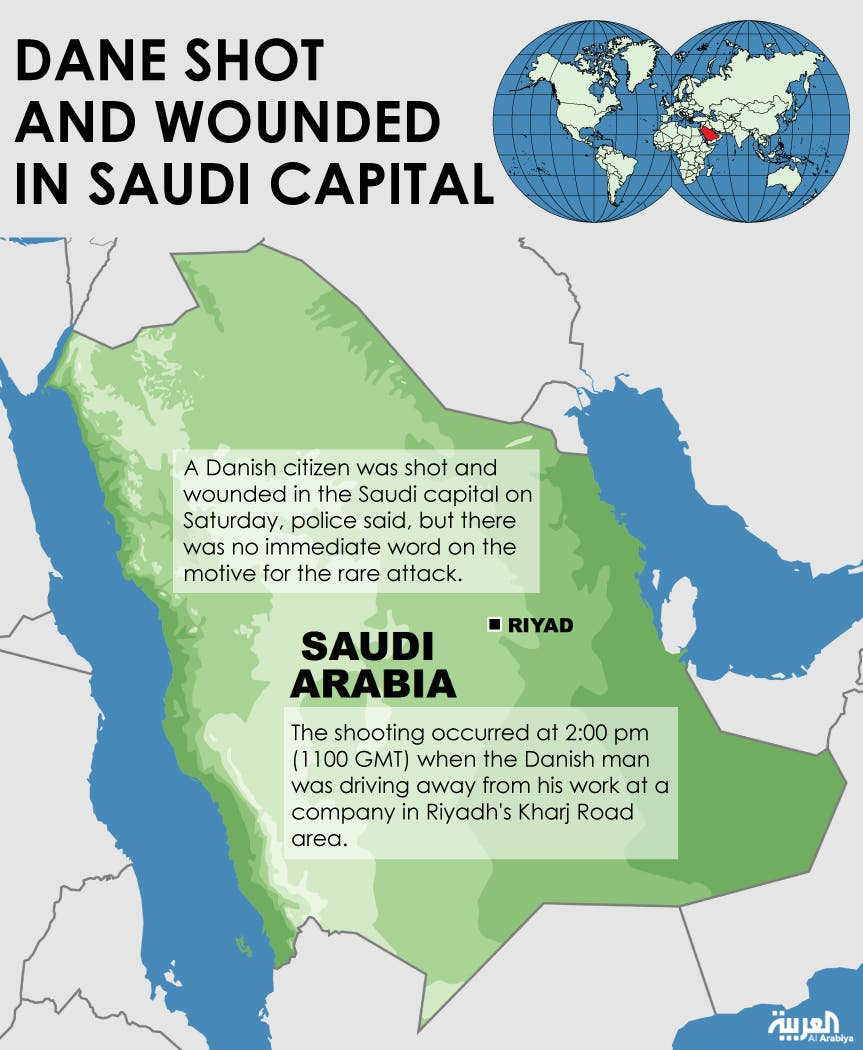 Infographic: Dane shot and wounded in Saudi capital