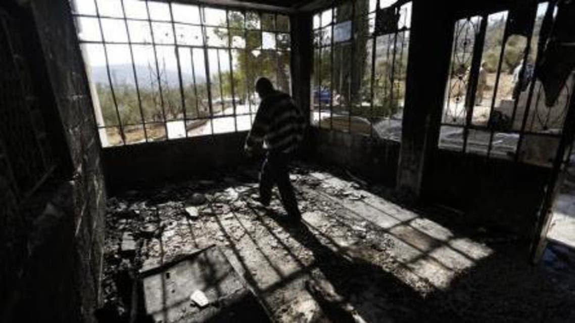 مستوطنون يحرقون منزلاً في رام الله