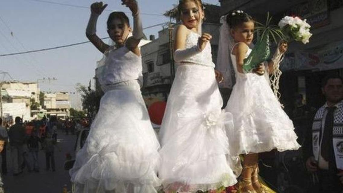 child marriage  REUTERS/Ibraheem Abu Mustafa