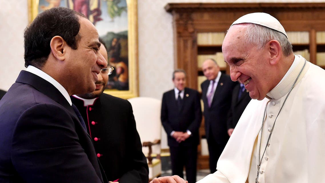 السيسي و البابا فرانسيسي 3