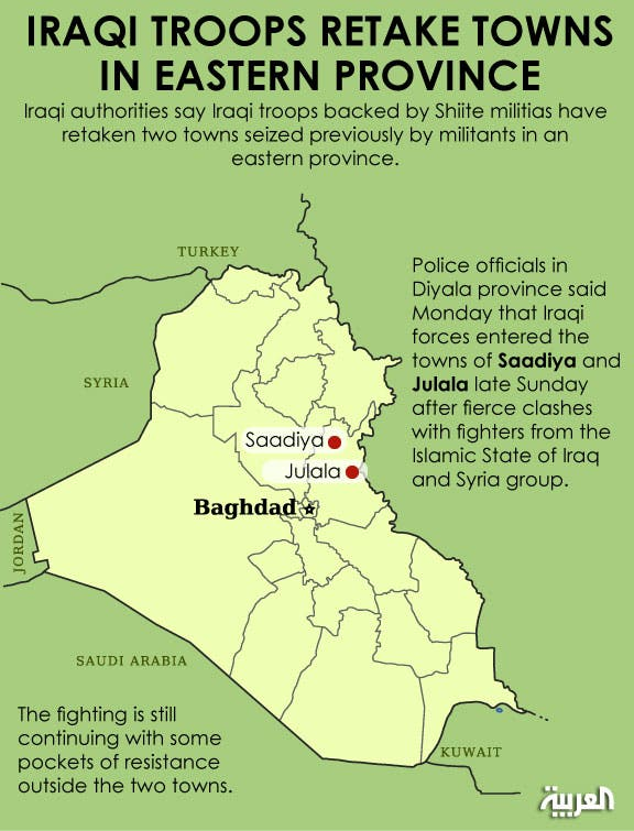 iraqi forces retake towns infographic