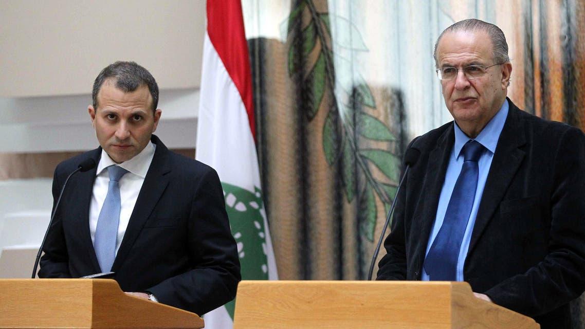 Gebran Bassil in Cyprus AFP