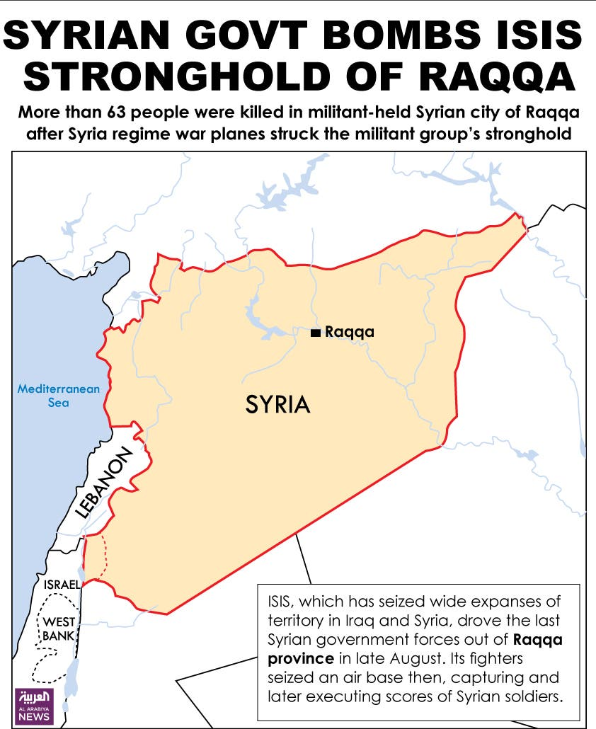 Infographic: Syrian govt bombs ISIS stronghold of Raqqa