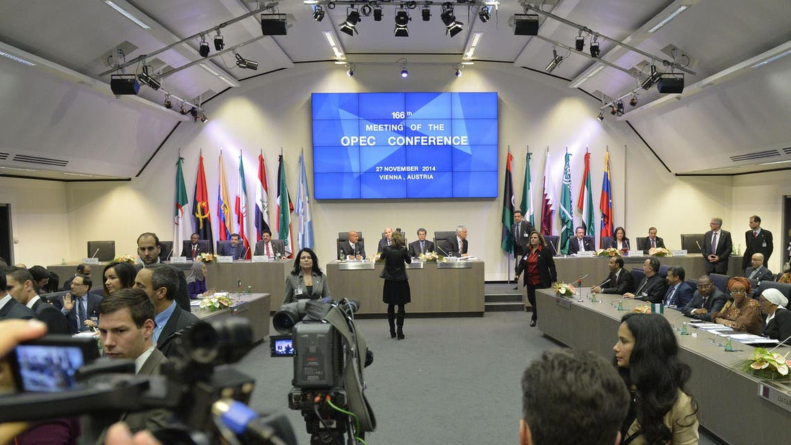 A general view shows the166th ordinary meeting of the Organization of the Petroleum Exporting Countries, OPEC, at their headquarters in Vienna, Austria on November 27, 2014.
