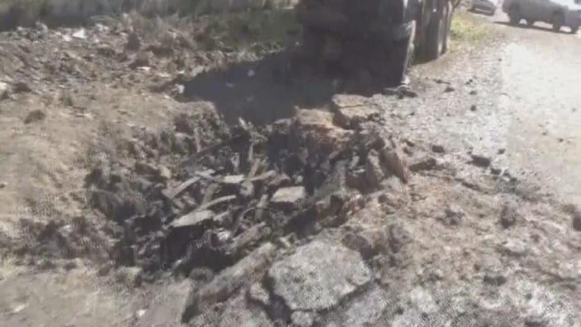 THUMBNAIL_ 01 مكان انفجار السيارة المفخخة في مدينة الميادين بريف ديرالزور
