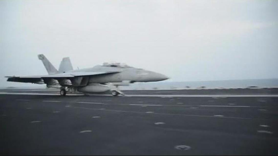 THUMBNAIL_ بالفيديو: حاملة طائرات أميركية تشارك بضربات ضد داعش