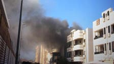 مصر.. حريق هائل بنادي السكة الحديد