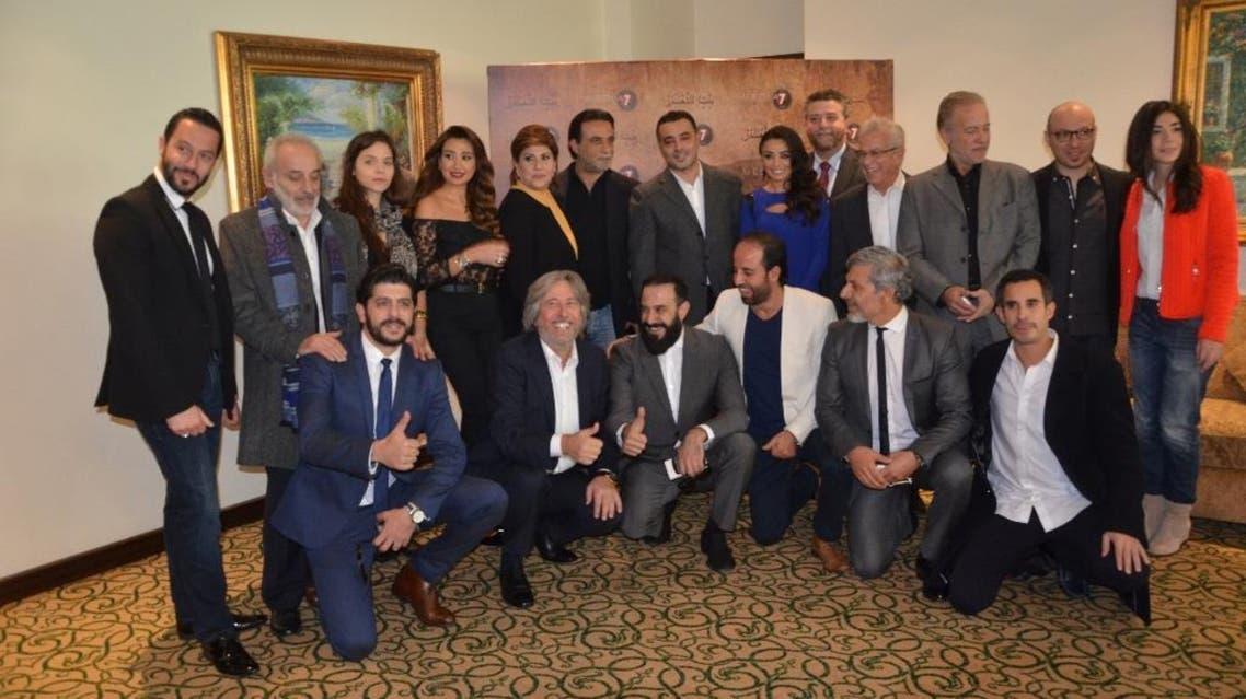 أسرة مسلسل بنت الشهبندر بعد المؤتمر الصحفي2