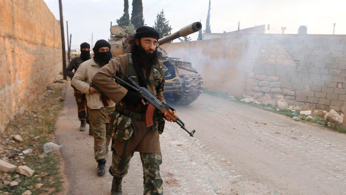 عناصر من جبهة النصرة في  ريف حلب قرب حي الزهراء الشيعي