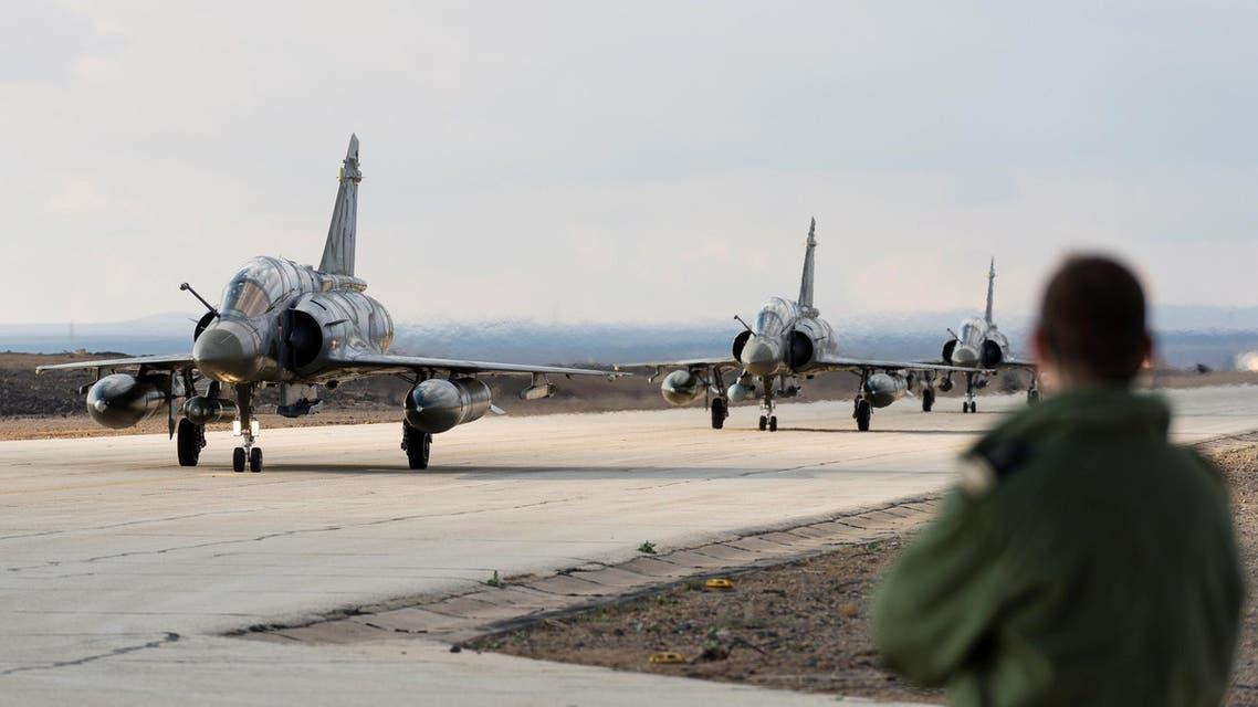 مقاتلات فرنسية في الأردن لضرب داعش فرنسا العراق سوريا غارة غارات التحالف